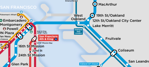 Boland's Oakland Transit Map