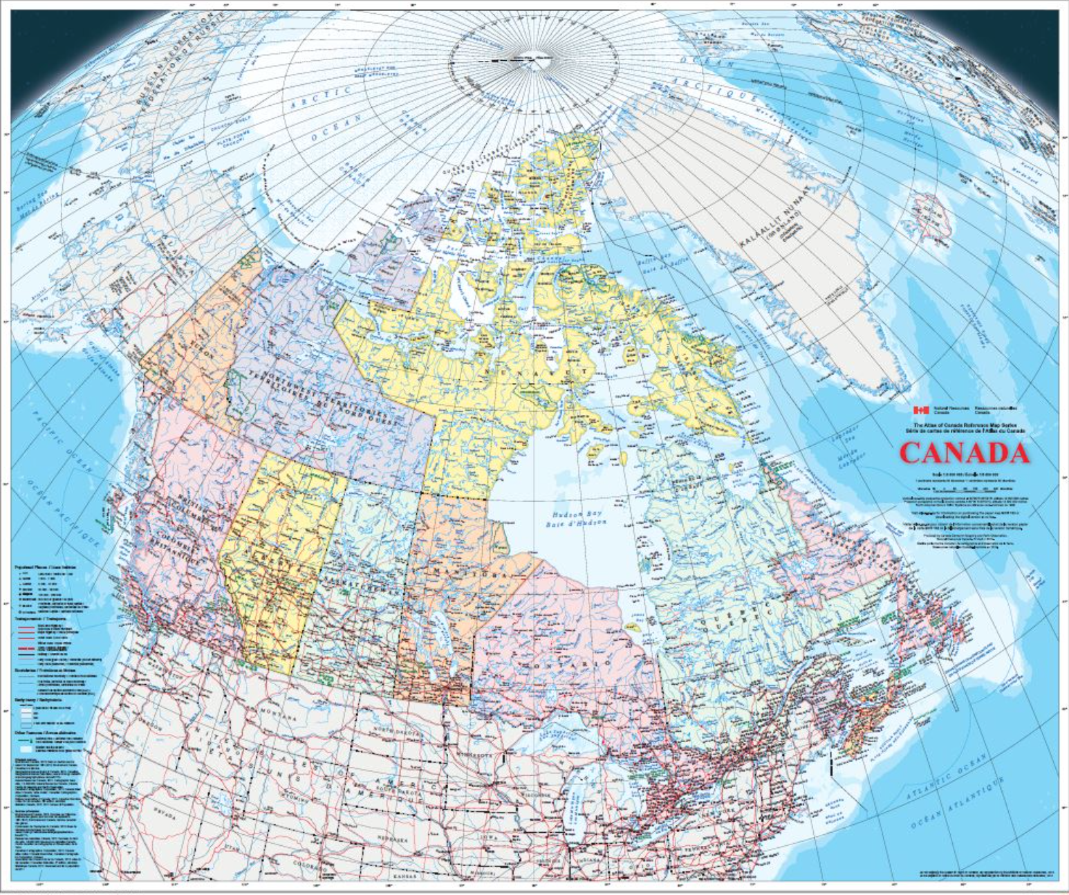 Canada with Polar Claims, Parks