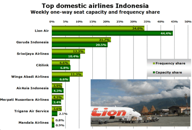 Domestic Indonesian airlines