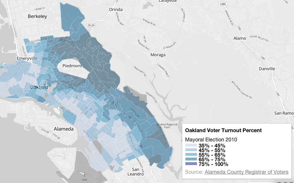 Oakland Voter Turnout