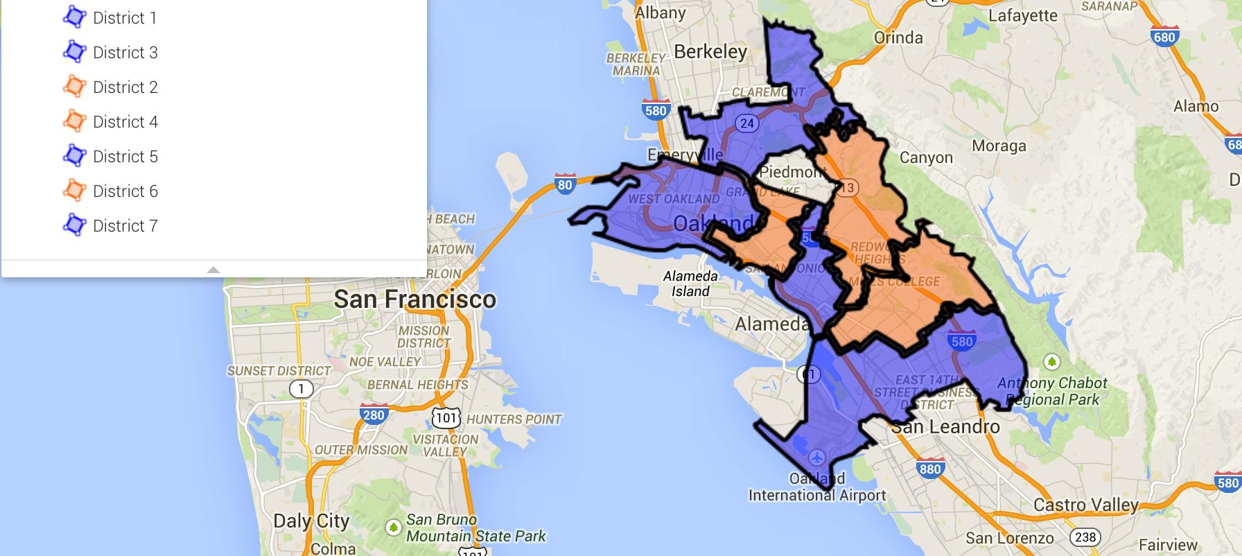 Seven Districts in Oak