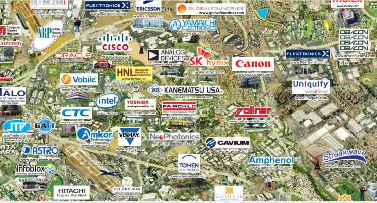 Map Silicon Valley