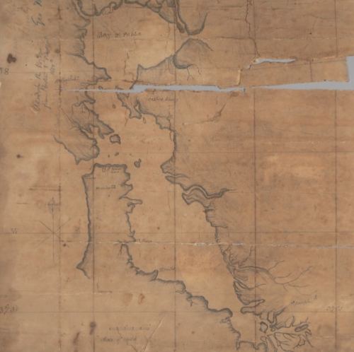 Bay Area 1800s drawn map