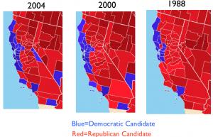 California-1988-2000-2004-Presidential-Elections-300x193