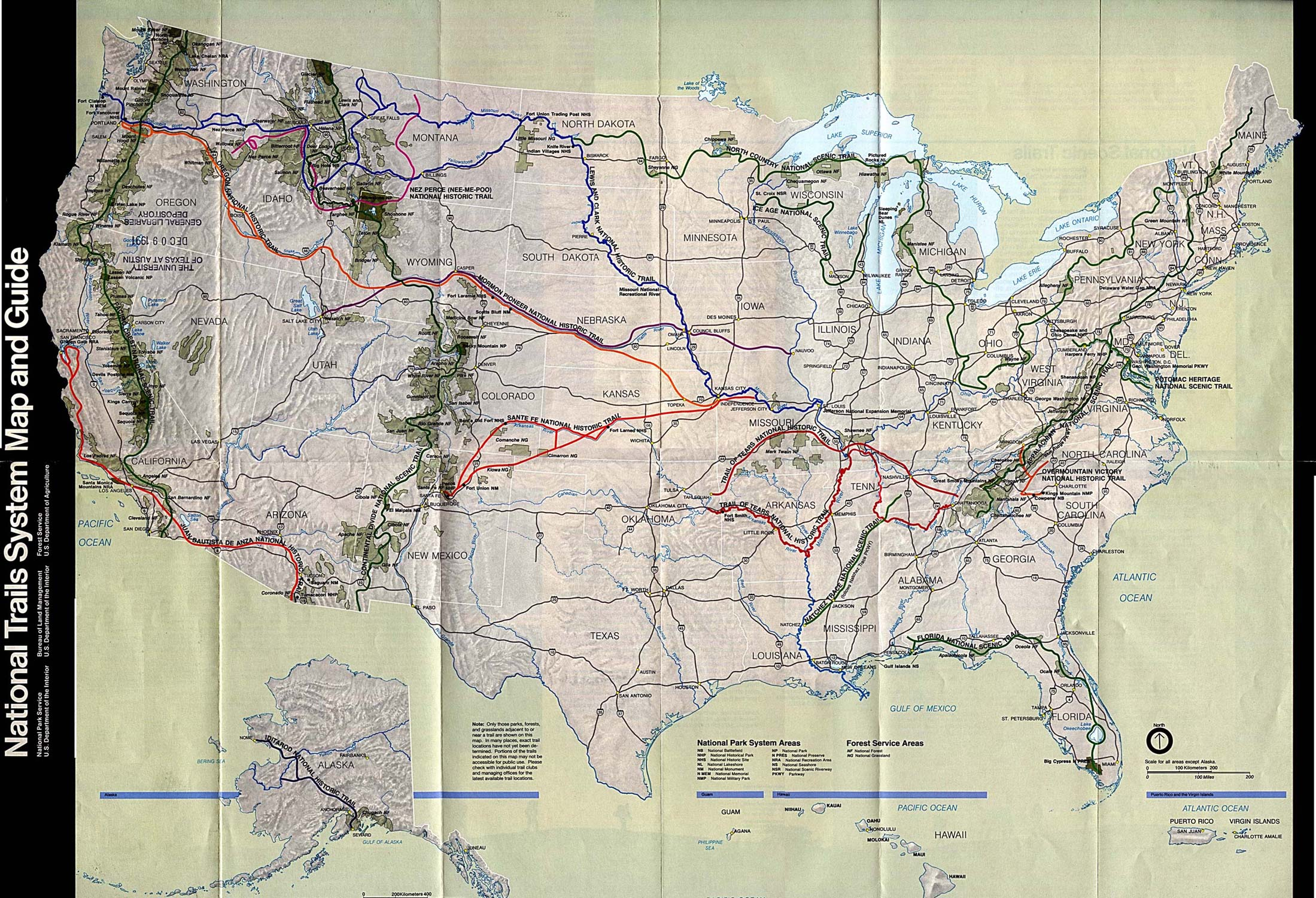 Roads Political And Administrative Map Of The Western United Plan - Map west usa national parks