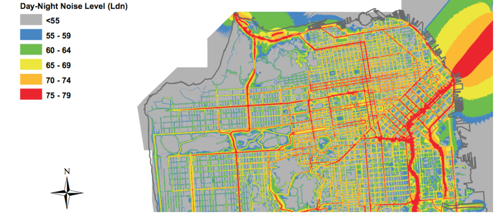 SF NOISE MAP