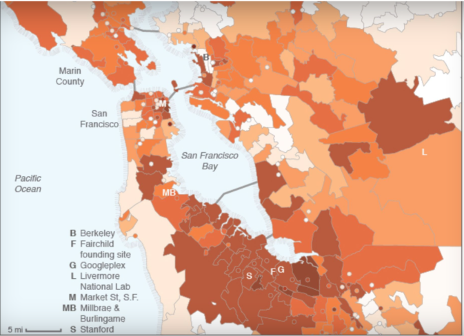 SF START UPS http:::www.theverge.com:2015:2:5:7984489:silicon-valley-startup-entrepreneur-concentration-map