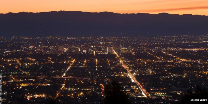 Silicon Valley at Night