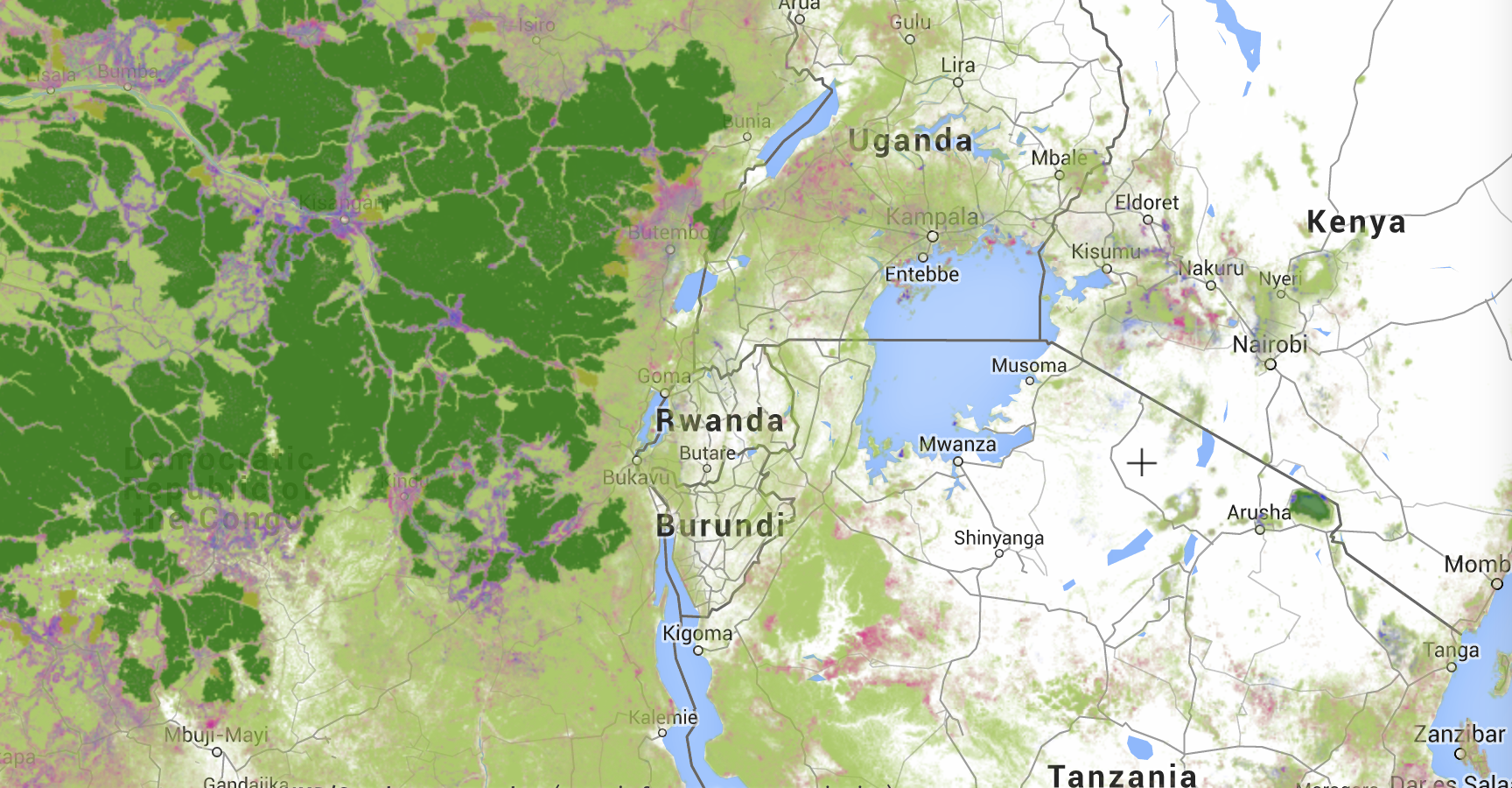 footprint in Central Africa