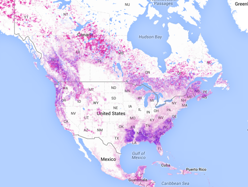 loss:gain Nafta areas