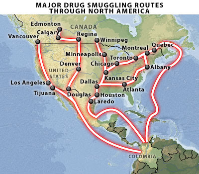 NA Smuggling Routes