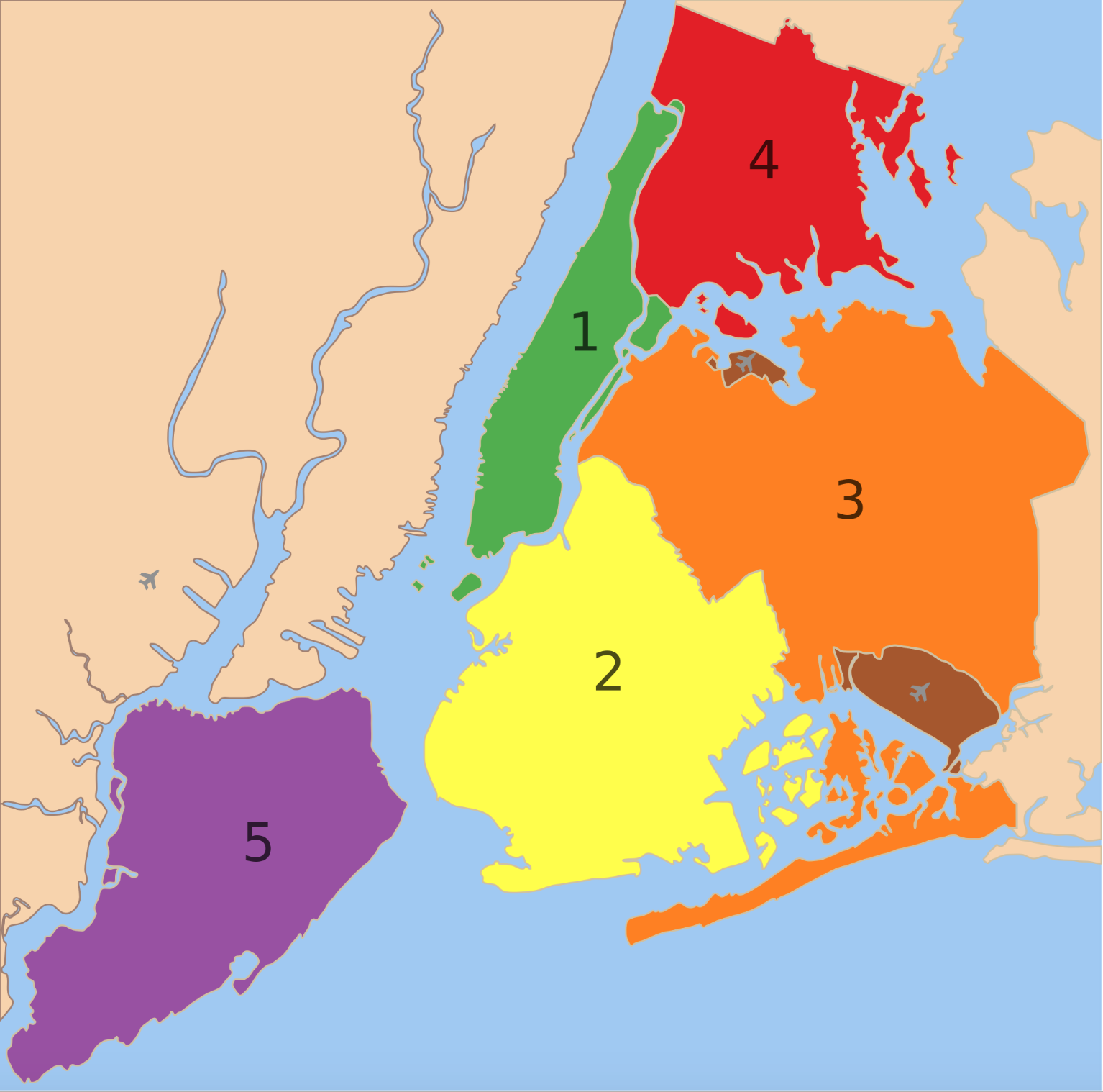 Is Staten Island Bigger than Manhattan Musings on Maps