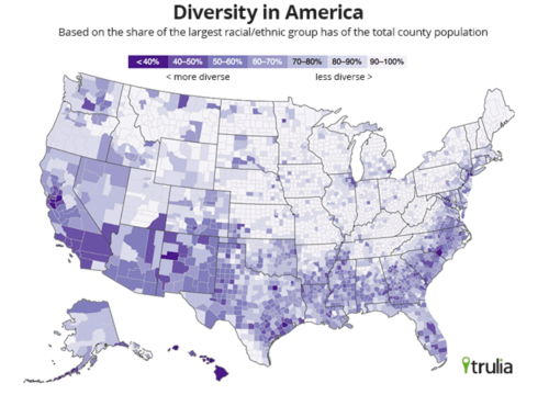 Diversity in USA, 2010