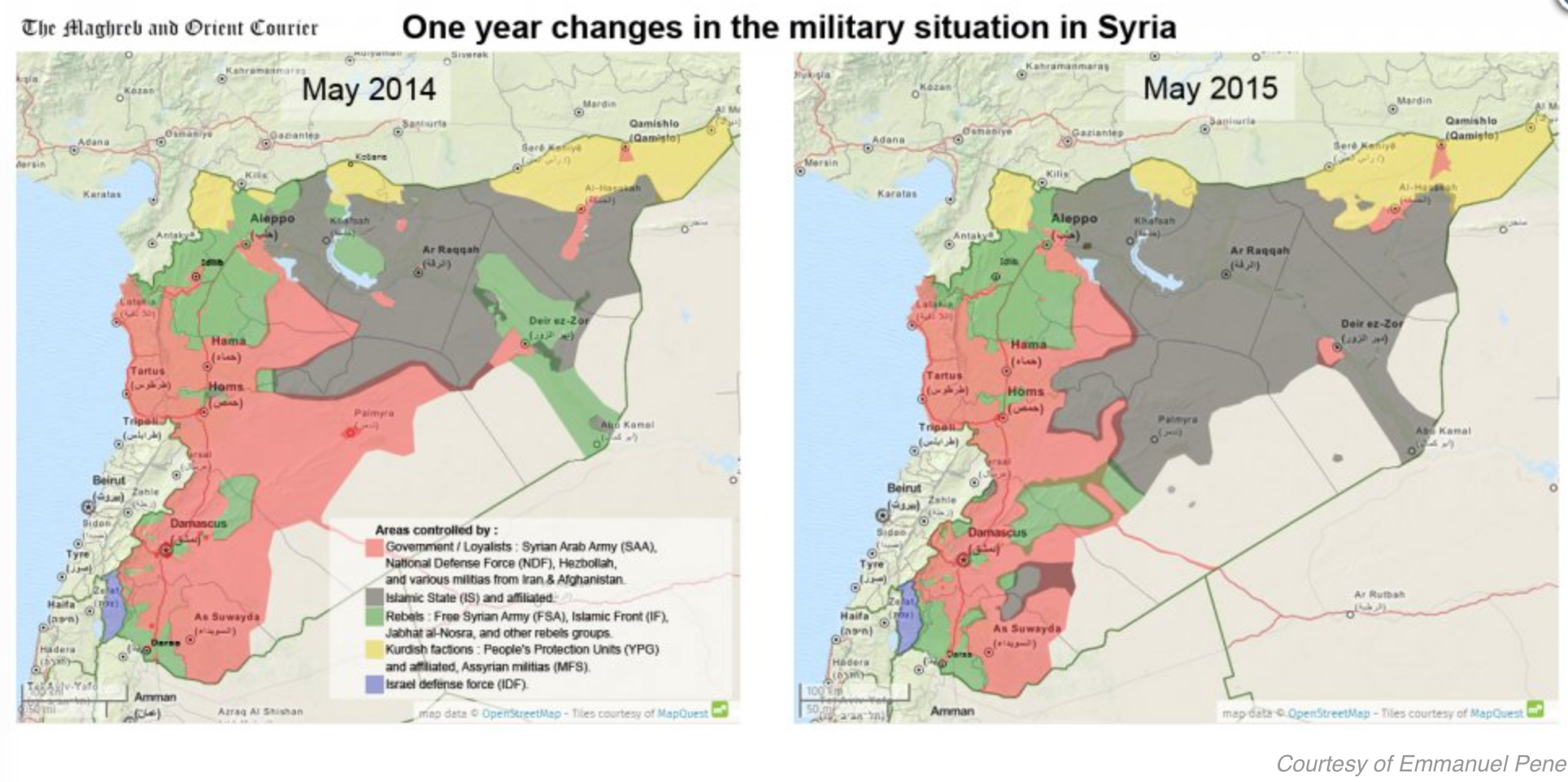Syrian Civil War Musings On Maps - Syria interactive map