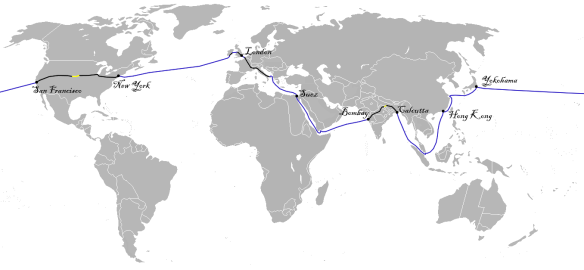 Around the World in Submarine Internet Cable   Musings on Maps