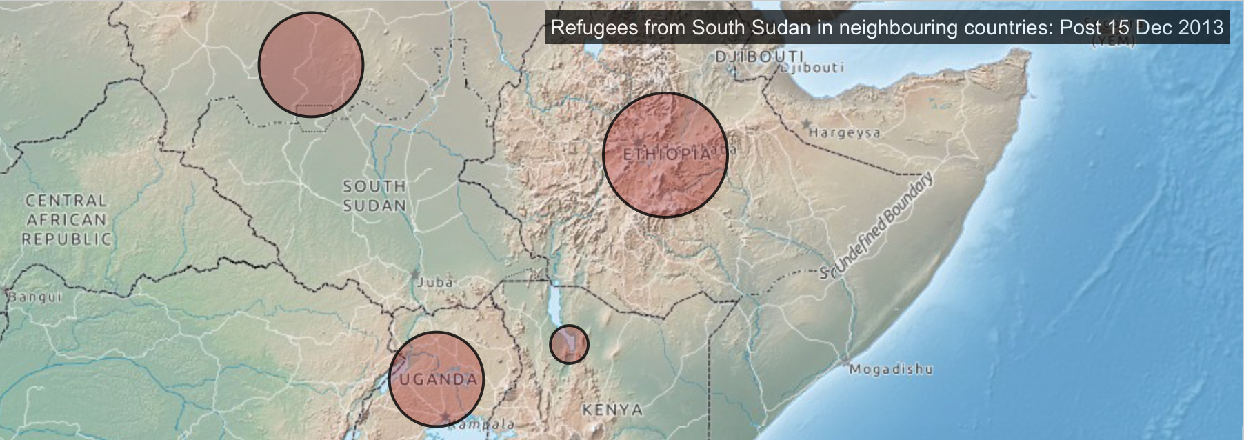 Sudanese refugees mapped