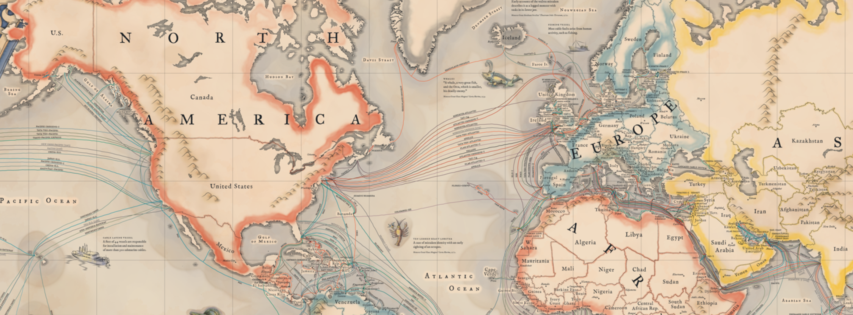 Around the world in submarine internet cable musings on maps transatlantic gumiabroncs
