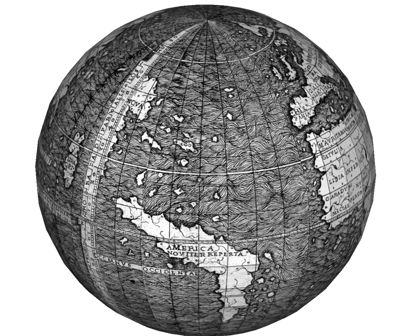 G. Zotti recreation of globe