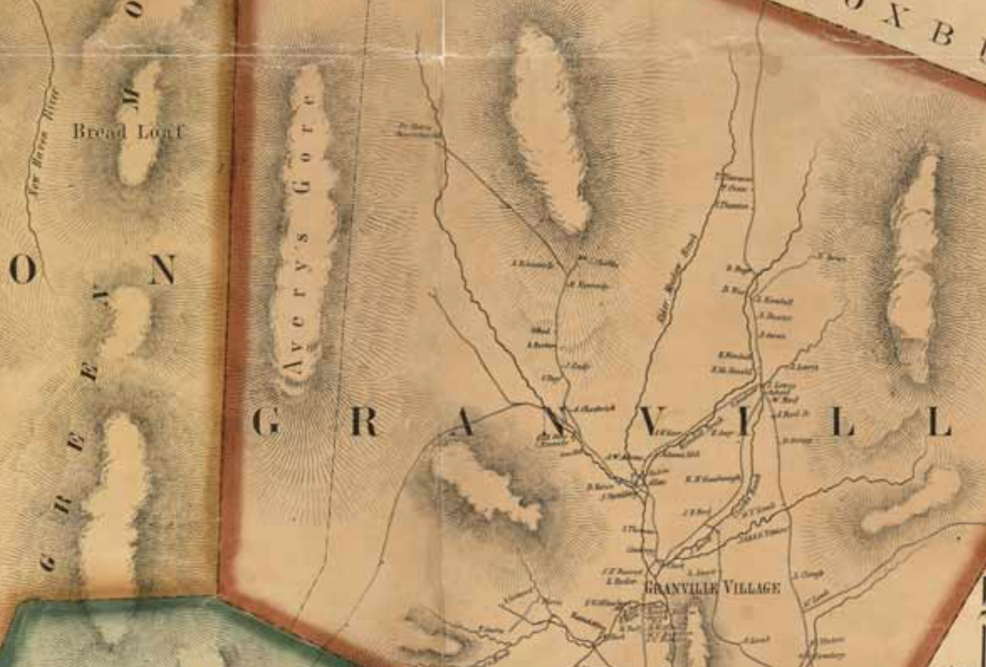 Granville rivers and roads 1859