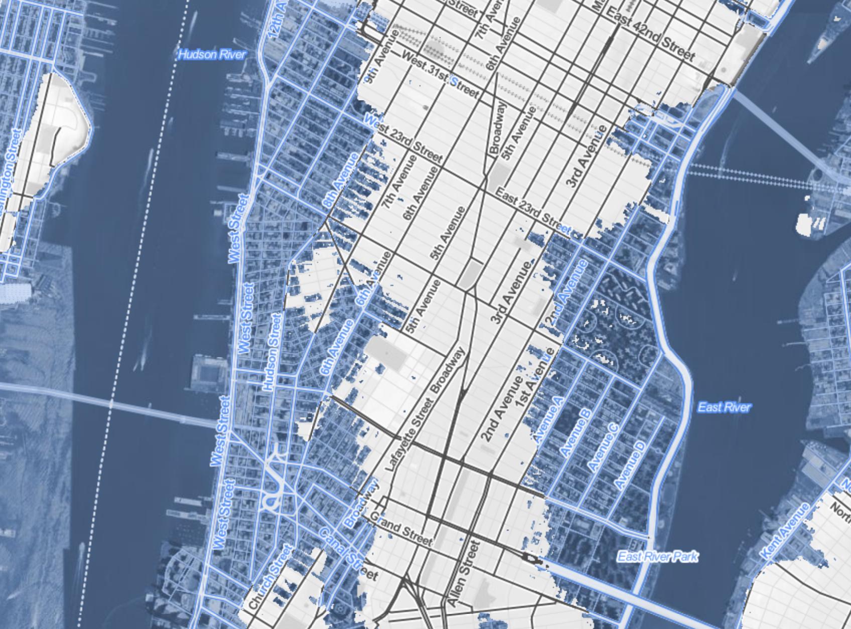 lopped off lower Manhattan