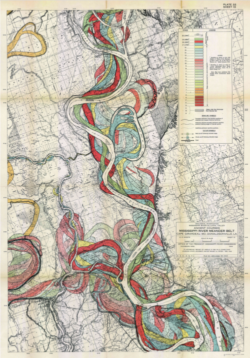 Mississipi River Basin and Meander Belt-Ancient Paths