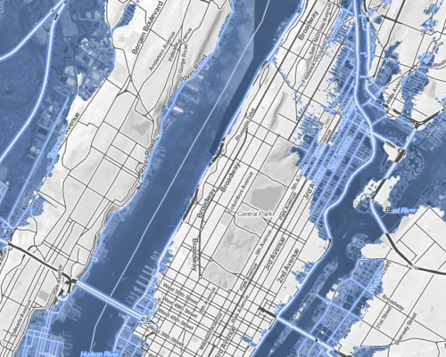 Truncated NJ and absent upper East side