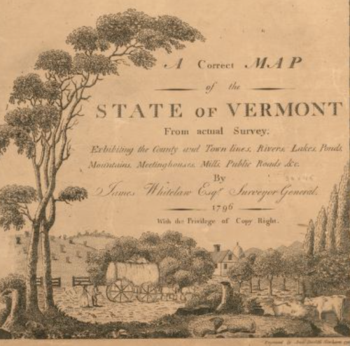 Vermont map legend 1796