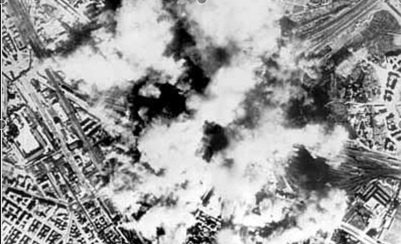 city bombed