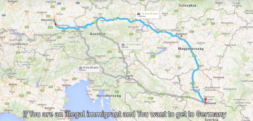 Illegal Immigrants and You want to get to Germany