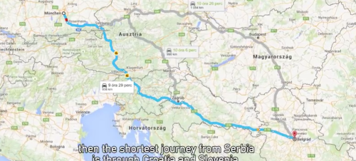 The Shortest Journey from Serbia