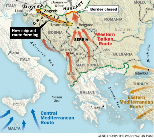 Wa Po Migrant Routes around Hungary