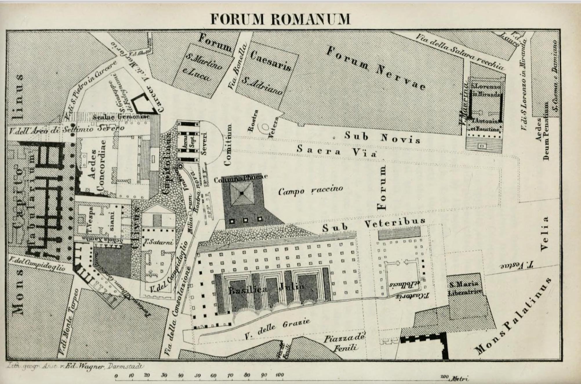 Forum Romanum Baedecker 1868
