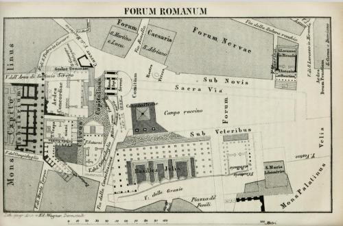 Forum Romanum Baedecker 1868.png