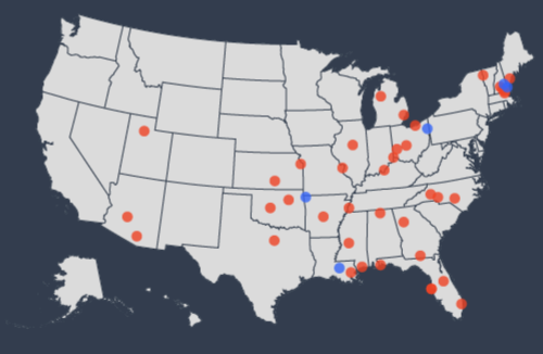 Trump Rallies Mapped