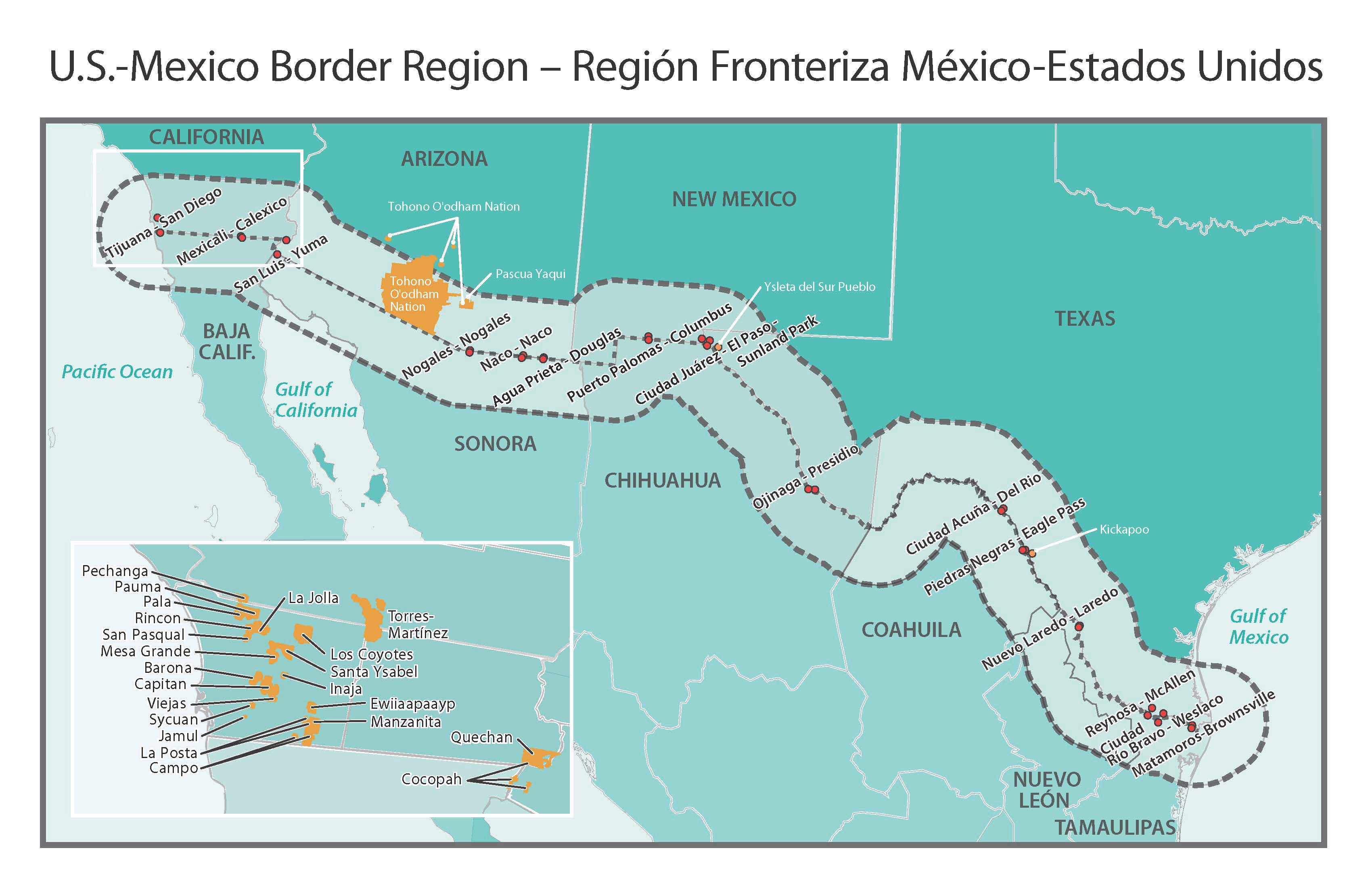 Mapping the Material Surplus along the USMexico Border Musings