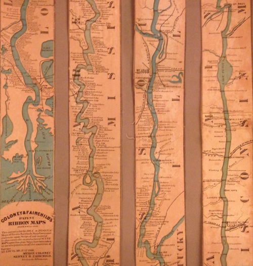 Strip Map Ribbon of River