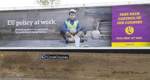 UKIP take control billboard