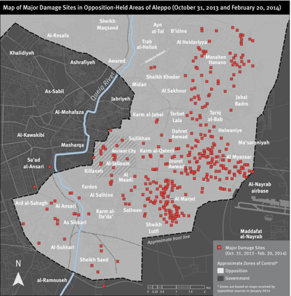 Aleppobarrelbombmap Musings On Maps - Aleppo map