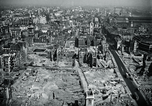 Bombed out london from St Pauls