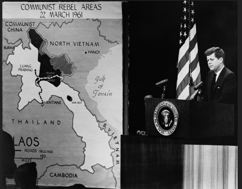 CIAmap Communist Rebel areas President Kennedy 1961 map.png