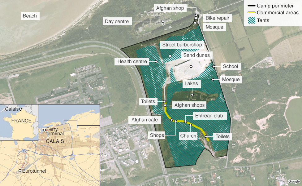 The New Jungle from Calais to Beyond Musings on Maps