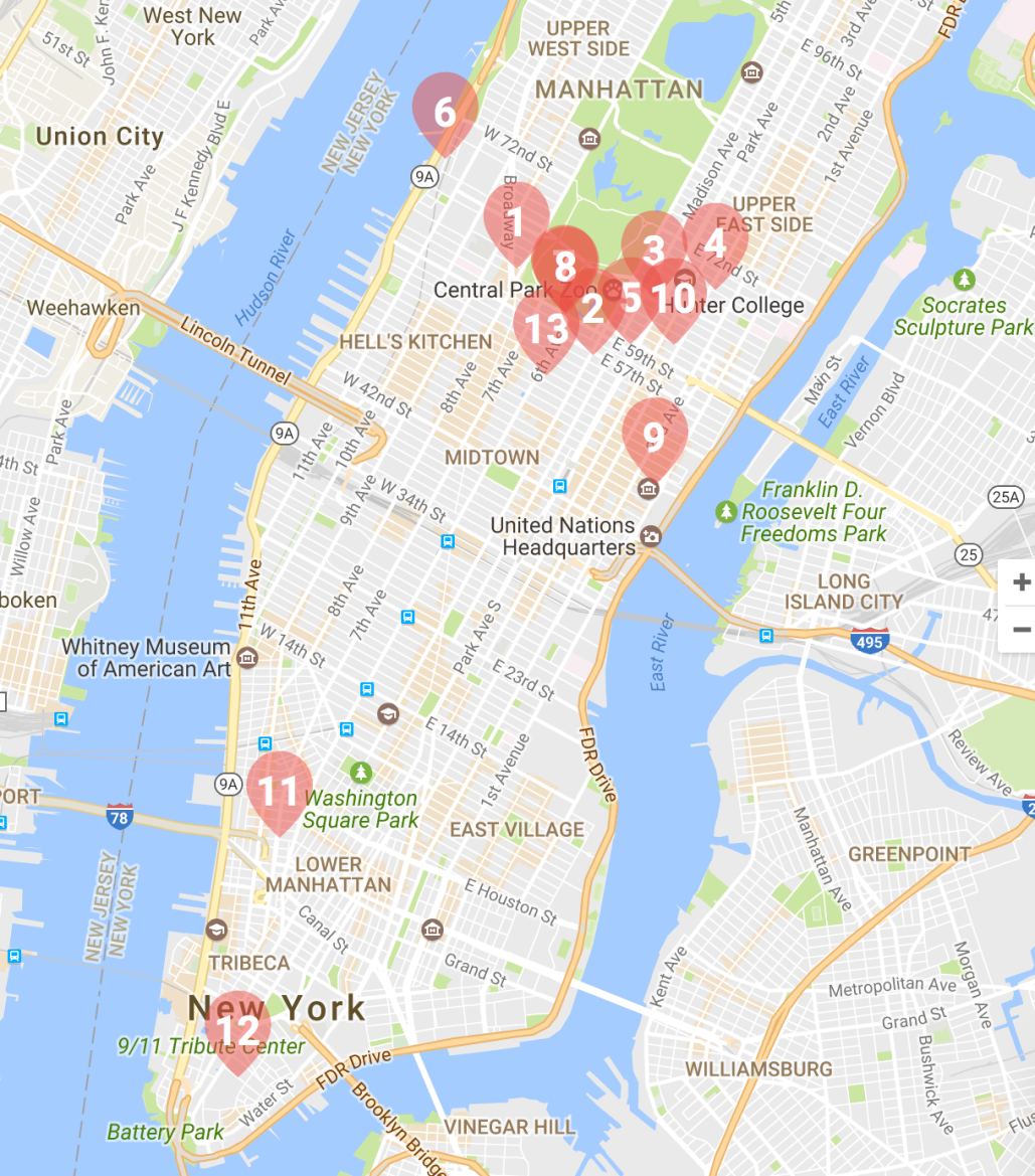Trump Tower Nyc Map.Trump Tower Musings On Maps