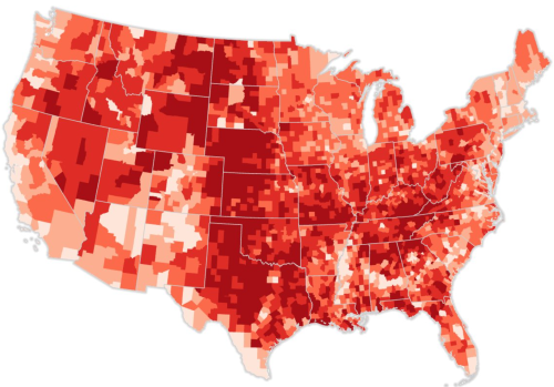 Trump votes normalized choropleth