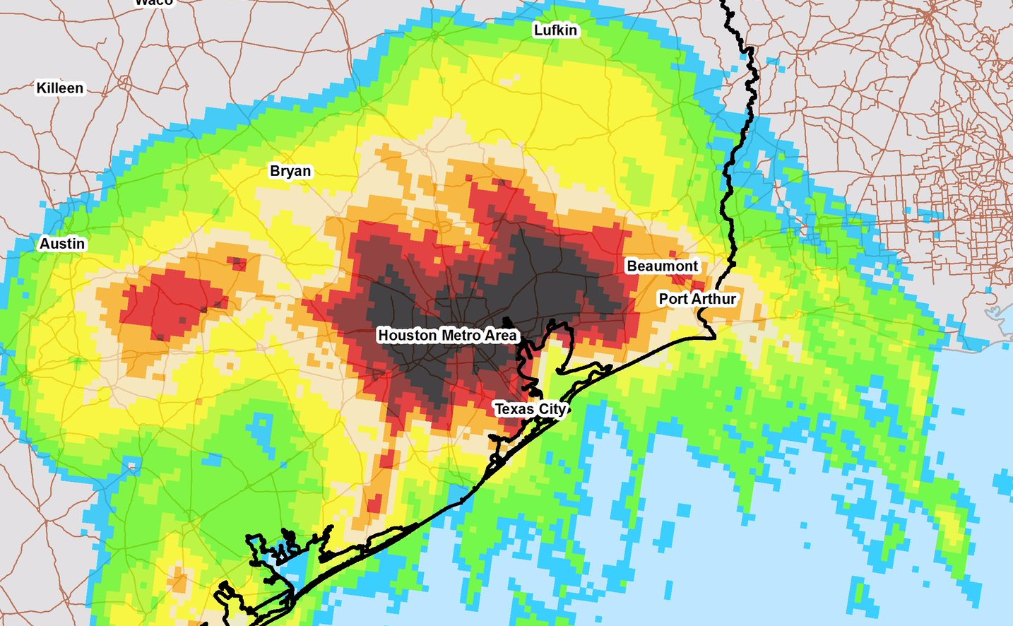 Houston Metro Periphery rain:shore