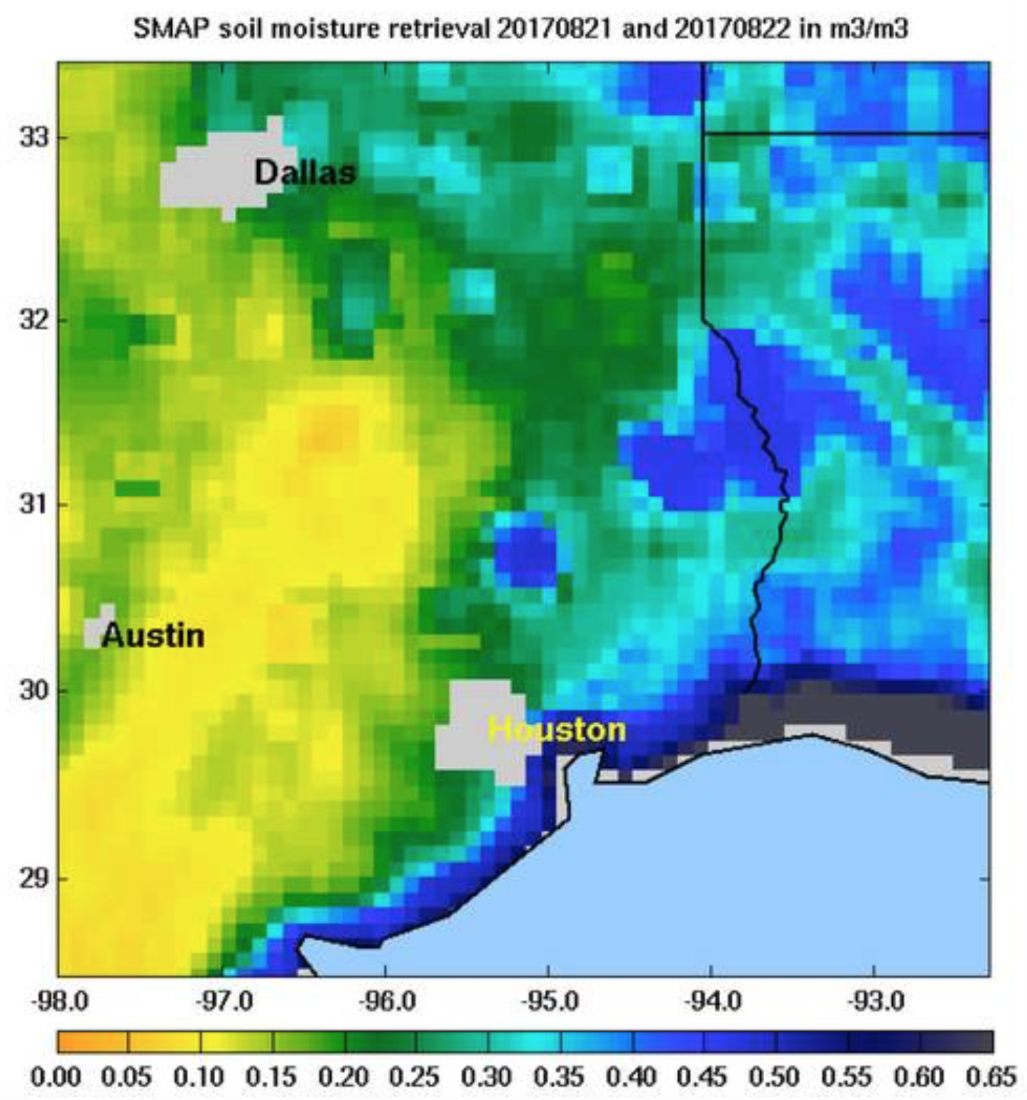 Land Saturation by Harvey SMAP 8:21 and 8:22.png