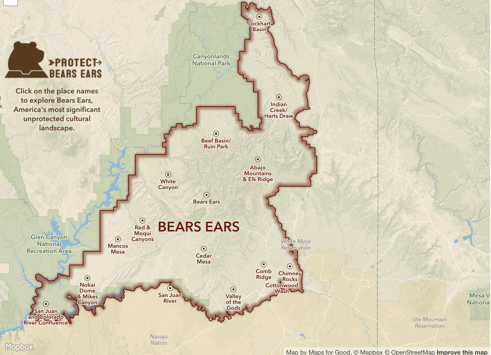 Bears Ears:Mapbox