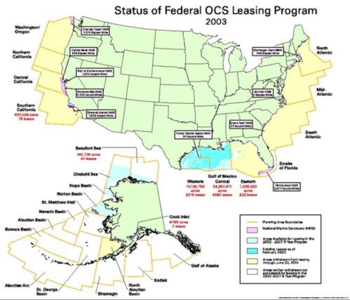 Feeral Leasing Program OCS 2003