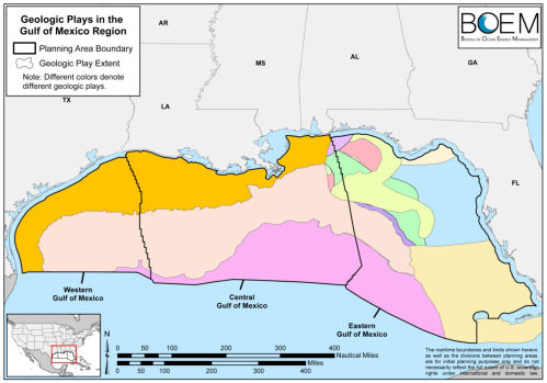 Geological Plays in Gulf of Mexico