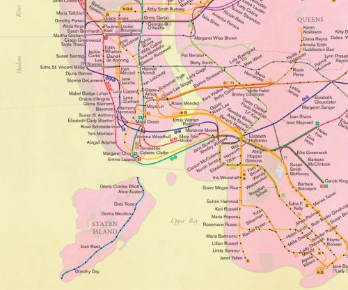 SOUTH NYC SUBWAY MAP