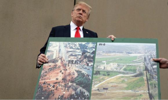 Donald Displays Map